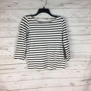 J. Crew Factory Striped boatneck T shirt