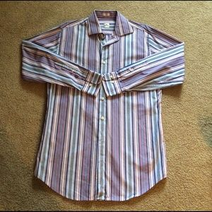 Peter Millar Other - Peter Millar multi colored striped dress shirt med