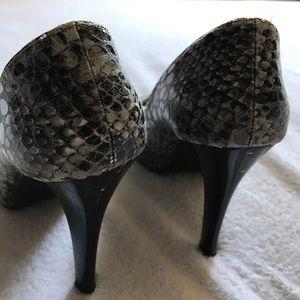 Moustakas Shoes - Snake print heels.