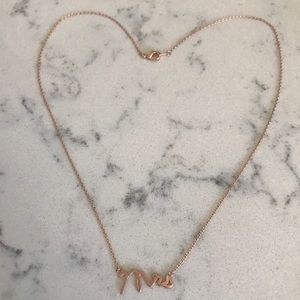 "Rose gold ""Mrs"" necklace"
