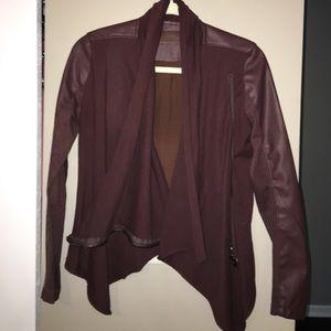 Blank NYC Jackets & Blazers - BlankNYC Maroon jacket