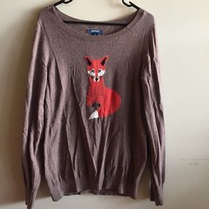 Old Navy Sweaters - Brown Sweater with Fox