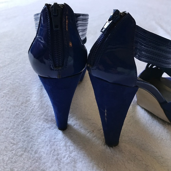 Madden Girl Shoes - Madden Girl two toned electric blue heels.