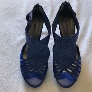 Madden Girl two toned electric blue heels.