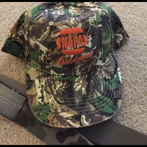 Dickies Other - REDUCED final  Lot of 2 camo NAPA cap Dickies belt
