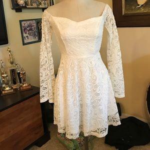 NWT LF white dress
