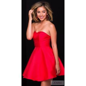 Short red JVN by Jovani dress