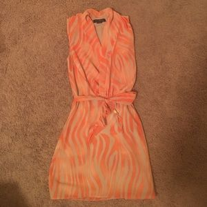 Guess by Marciano Dresses & Skirts - Orange Tie Waist Dress
