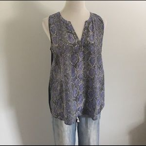 Joie Tops - Joie Black and Purple Snake Top sleeveless