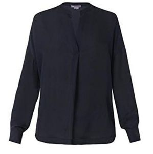 Vince Tops - Vince Silk Navy Blue Blouse