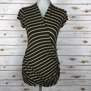 Bailey 44 Tops - Anthropologie {Bailey 44} Striped Wrap Blouse Top