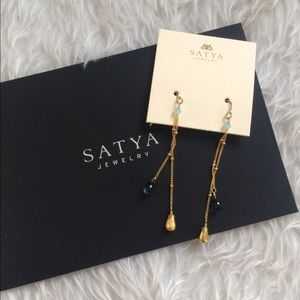 Satya Jewelry Jewelry - ✨NWT Satya Blue Topaz Drop Earrings✨