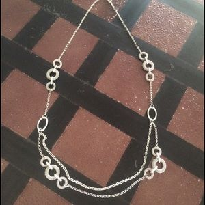 Premier Designs Jewelry - Long Silver Necklace
