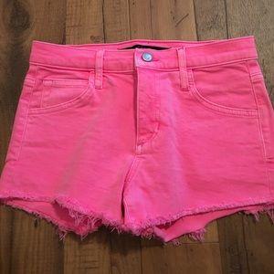NWOT Joe's jean shorts in pink Size: 25