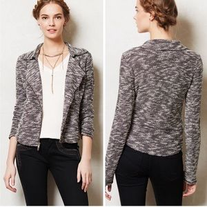 Anthropologie Marled Terry Moto Jacket, sz M
