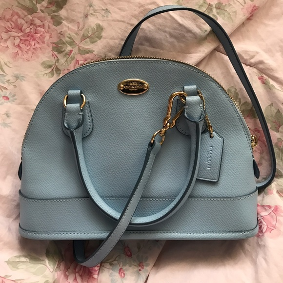 b9bf2e6bc555 Coach Handbags - Coach 37217 Mini Sierra Satchel Light Blue