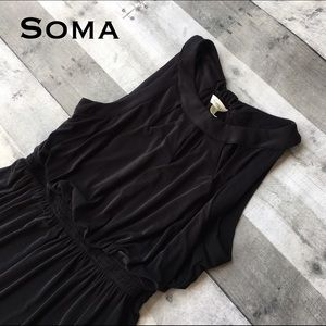 Soma Dresses & Skirts - Lounge/Leisure dress w/cut outs accents at collar