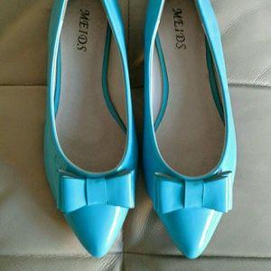 10 Crosby Derek Lam Shoes - Sky Blue patent leather now flats. 10 / 40. NWOT