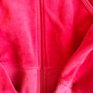 Juicy Couture Other - Juicy couture pink velour pants & zip up hoodie