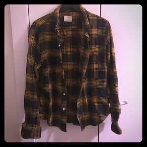 Band Of Outsiders Tops - BAND OF OUTSIDERS YELLOW/INK FLANNEL