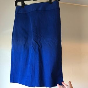 Banana Republic blue midi skirt