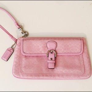 Coach Handbags - NWOT! Coach Pink Wristlet