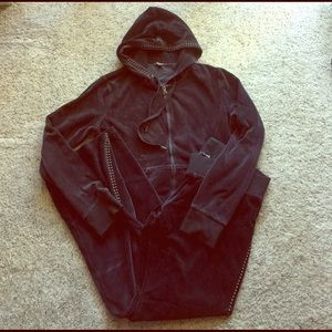 Express Other - Express Velour hoodie jacket and pants
