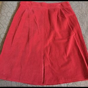 J. Jill Dresses & Skirts - J. Jill Red Corduroy Skirt