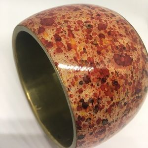 Mango Jewelry - 🍑MNG Mango Wide Bangle Cuff Bracelet Red