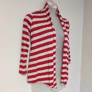 magic fit Sweaters - Striped T-Shirt Material Cardigan
