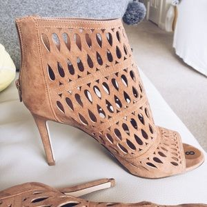 Aldo Shoes - Laser Cut Taupe Sandals