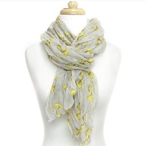 Accessories - Anchor Print Crinkle scarf