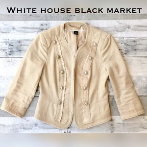 White House Black Market Jackets & Blazers - Gorgeous 3/4 sleeve military style blazer jacket