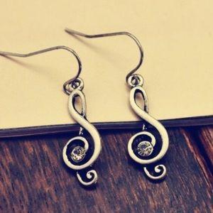 Jewelry - Music Note Earrings