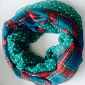 Accessories - Polka and Plaid Scarf