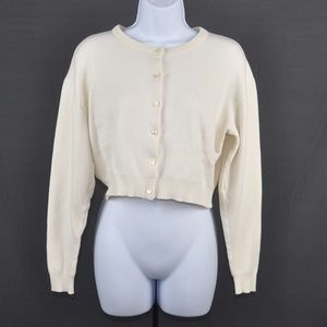 It's Our Time Sweaters - It's Our Time Cream Cropped Cardigan Size Small
