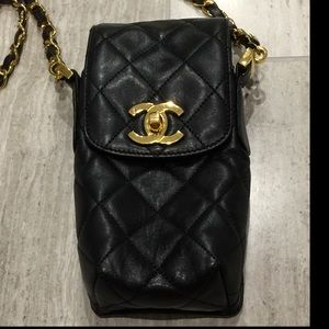 Authentic CHANEL Crossbody Bag Black Hard to Find!