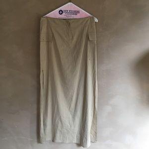 Theory Maxi canvas slit skirt