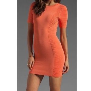 Torn by Ronny Kobo Dresses & Skirts - Torn by Ronny Kobo bodycon dress in Coral