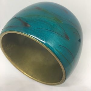 "Mango Jewelry - Mango Aquamarine Wide 2"" Bangle Cuff Bracelet MNG"