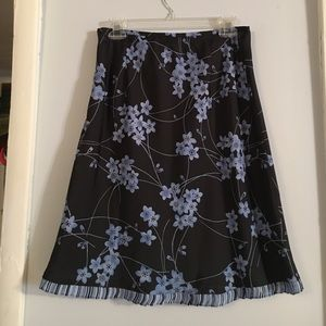 Dark navy and light blue skirt