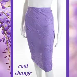 Cool Change Dresses & Skirts - COOL CHANGE Boho Lavender Sequin Embroidered Skirt
