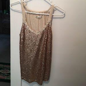 Jolt Tops - NWOT Jolt Gold  Sequin Tunic Top