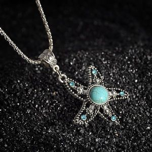 Jewelry - Turquoise starfish necklace