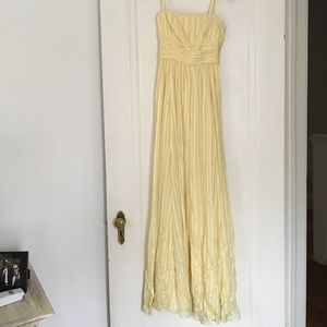 Yellow bcbg formal dress