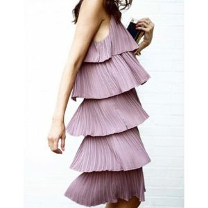NWT layered tiered mauve dress