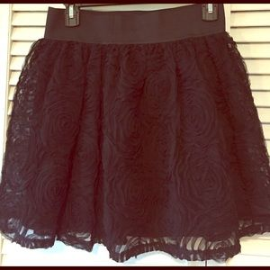 Cute Mini! Black textured sheer with lining