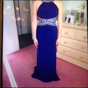 Prom Dress Formal Gown size 2 new with tags Blue