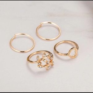 Gold Plated and Silver Diamond Rings