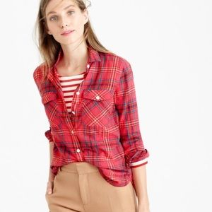 J. Crew Tops - J.Crew boyfriend shirt in cerise plaid